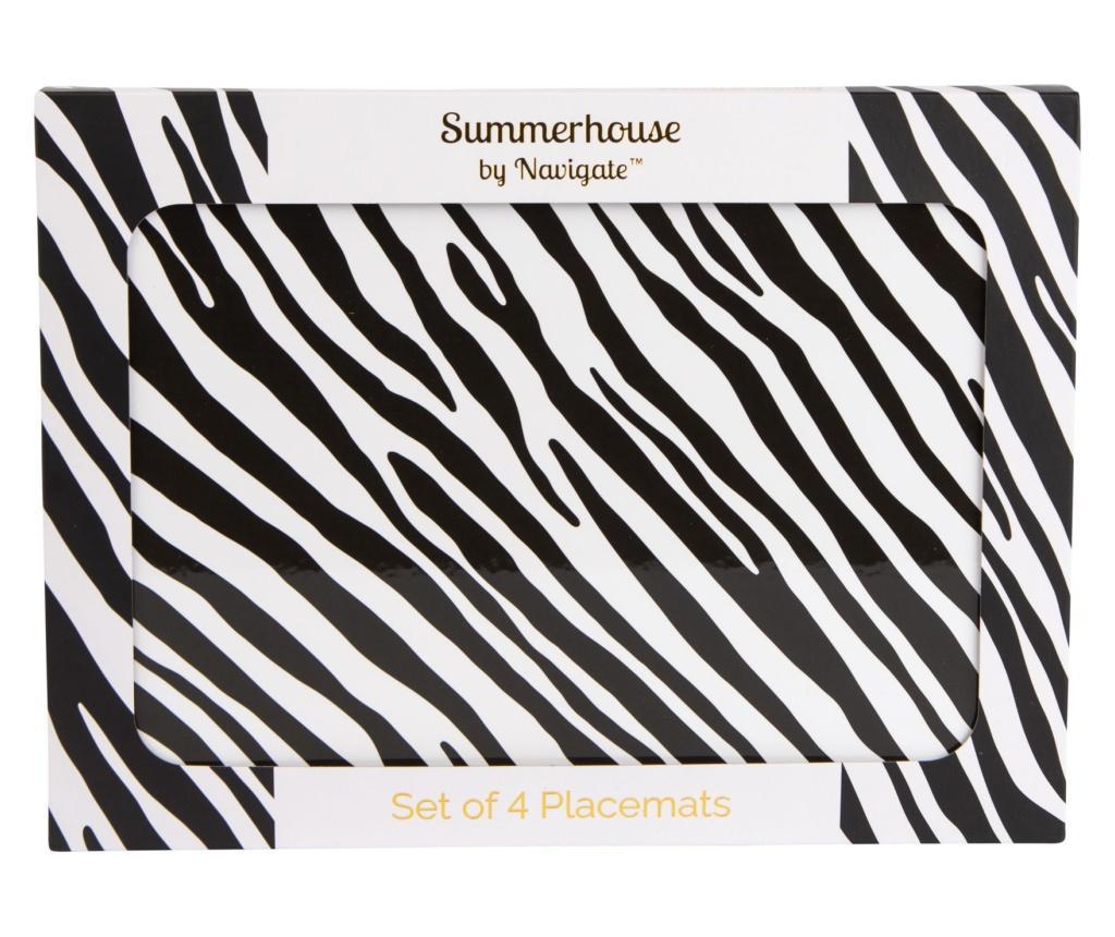 Set 4 podmetača Zebra Stripe 22x29 cm