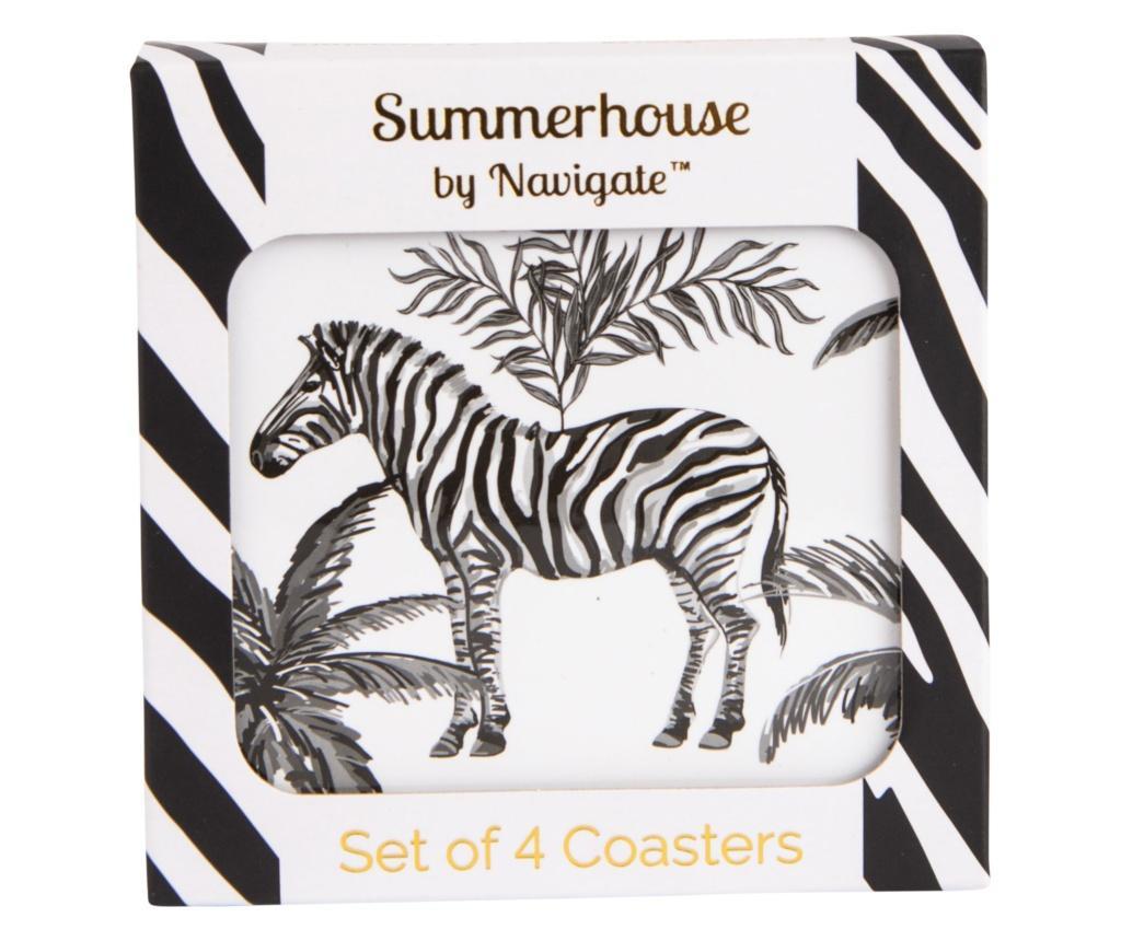 Zebra Repeat 4 db Poháralátét