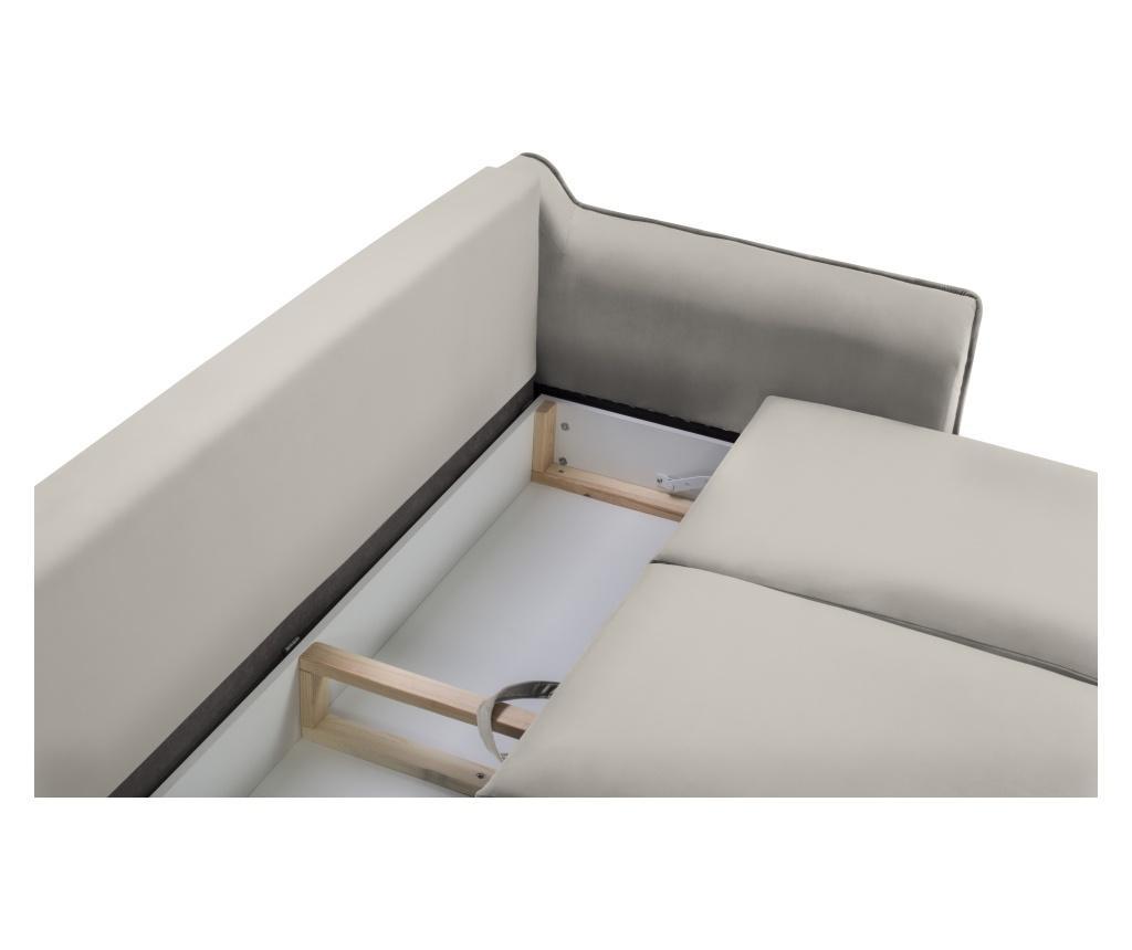 Canapea extensibila 3 locuri Basso Beige