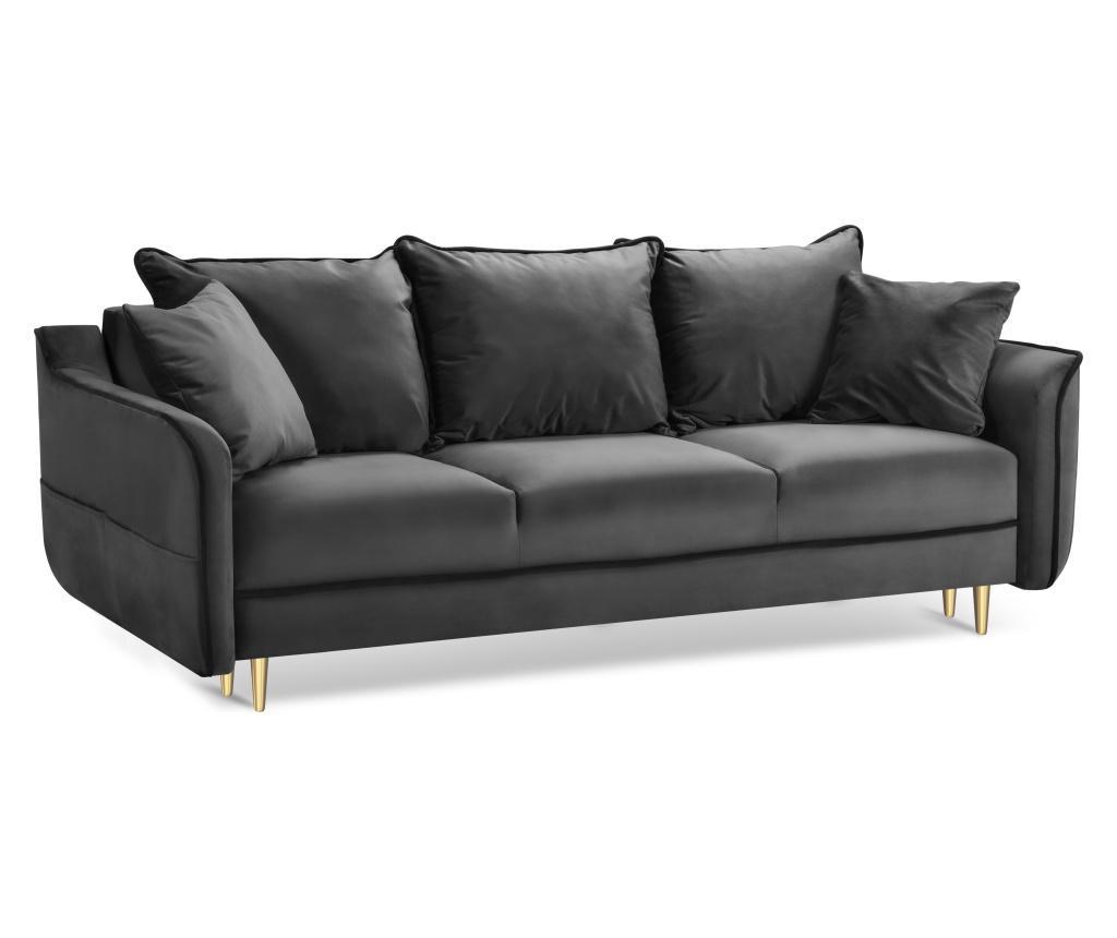 Rozkładana kanapa 3-osobowa Basso Dark Grey