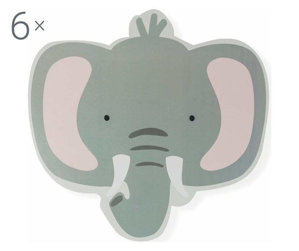 Set 6 dječjih podmetača Elephant