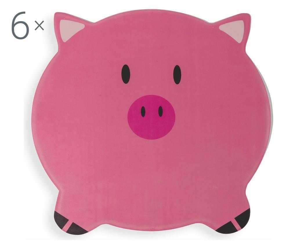 Set 6 dječjih podmetača Pig