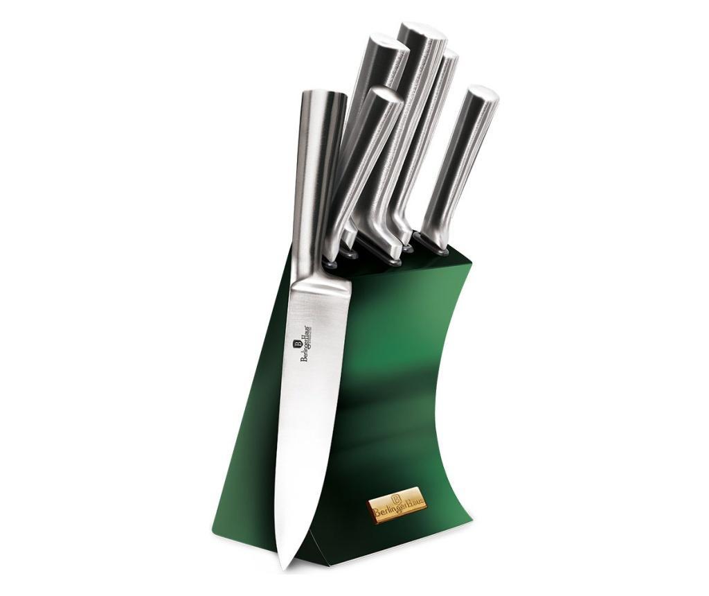 Set 5 cutite si suport Emerald