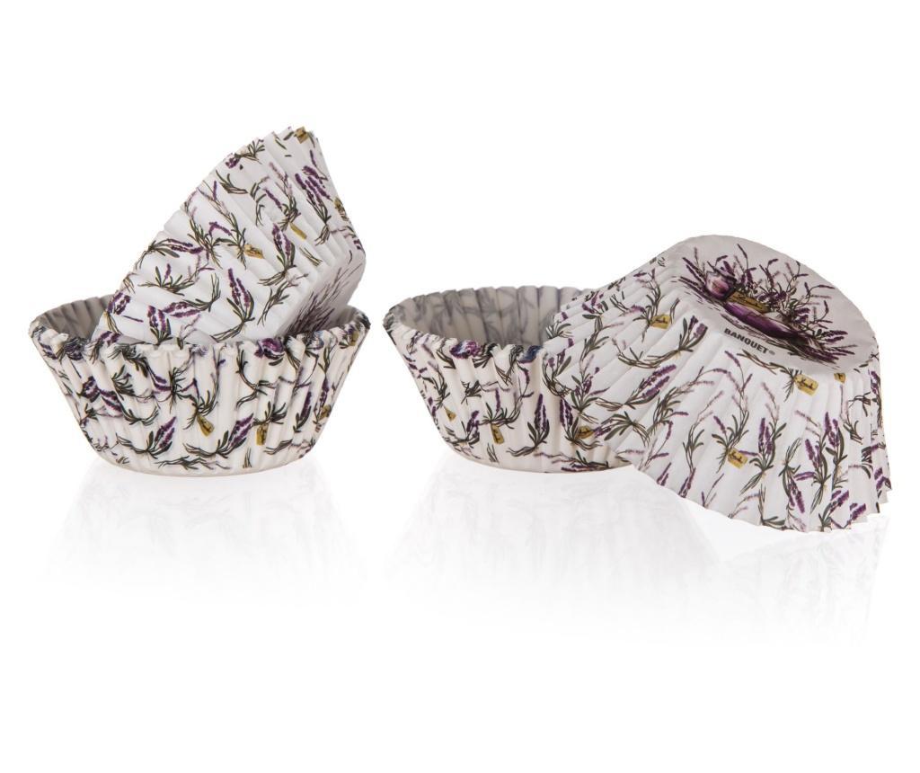 Set 60 de forme pentru briose Lavender