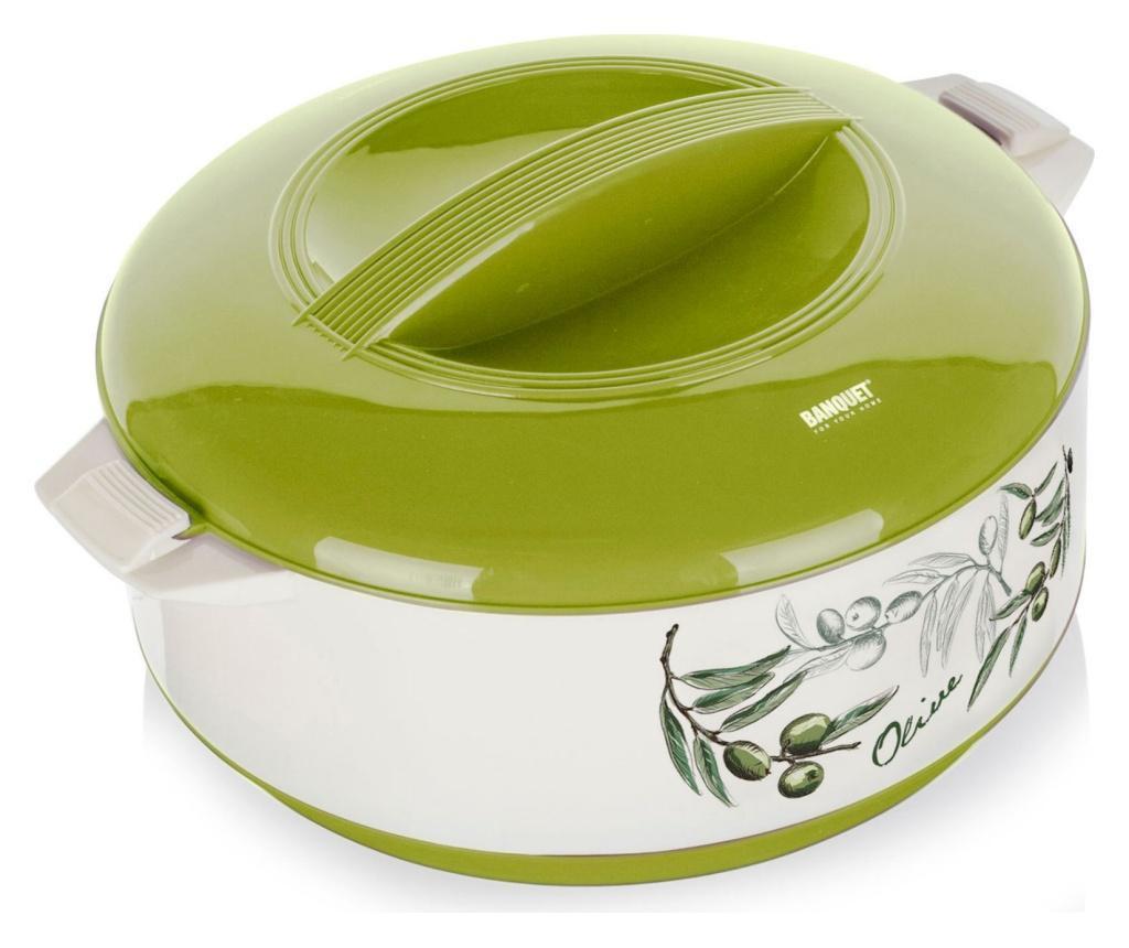 Caserola termoizolanta Green Olives 1.5 L