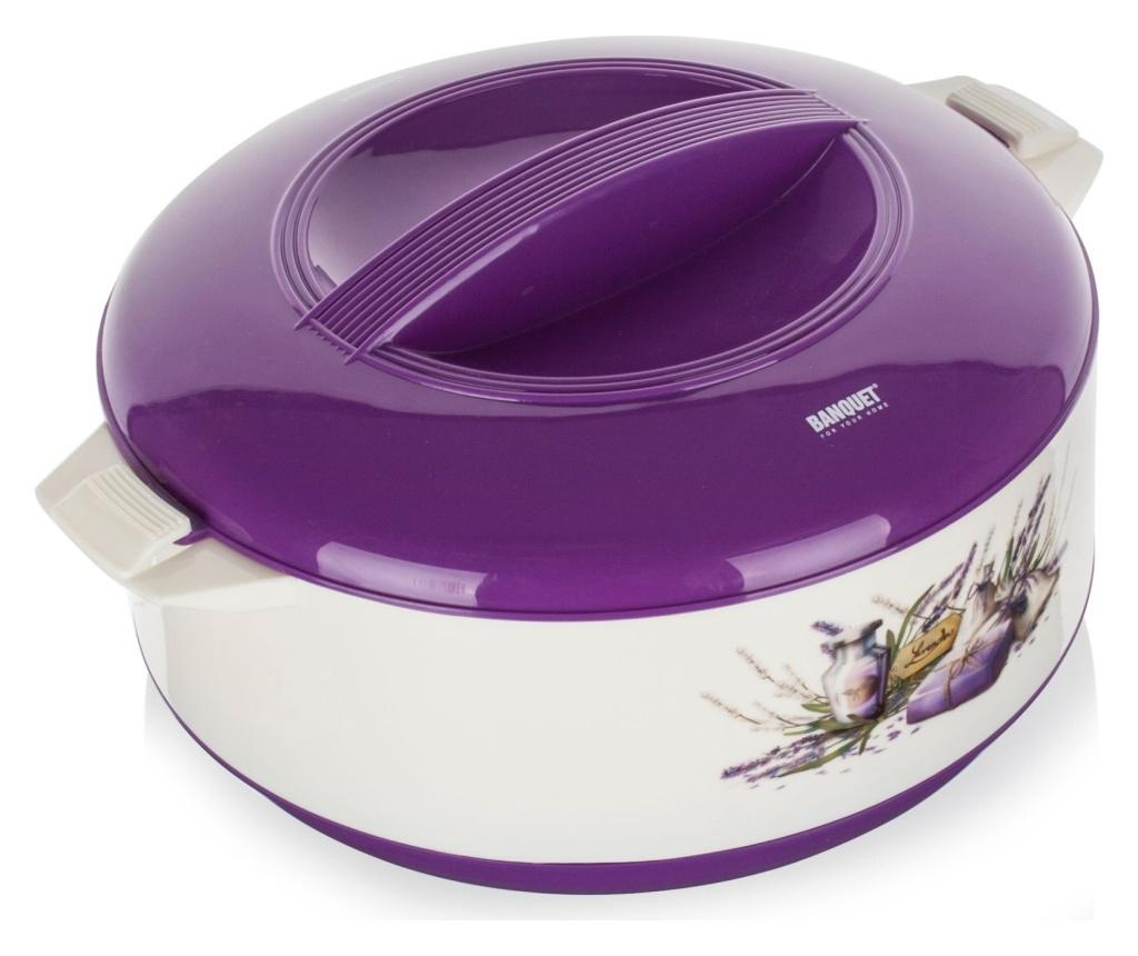 Recipient izoterm cu capac Culinaria Lavender 3.5 L