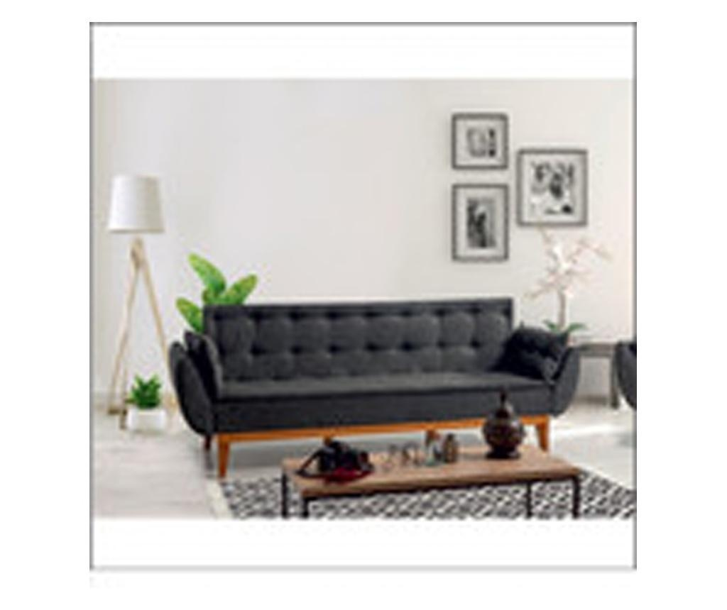 Anthracite Kihúzható háromszemélyes kanapé