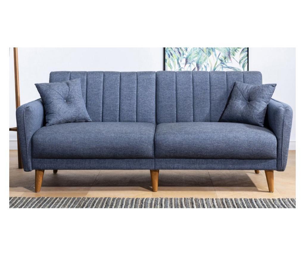 Tiffany Dark Blue Kihúzható háromszemélyes kanapé