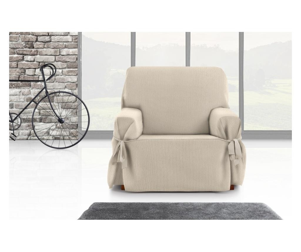 Podesiva navlaka za fotelju Chenille Ties Cream 80x45x50 cm