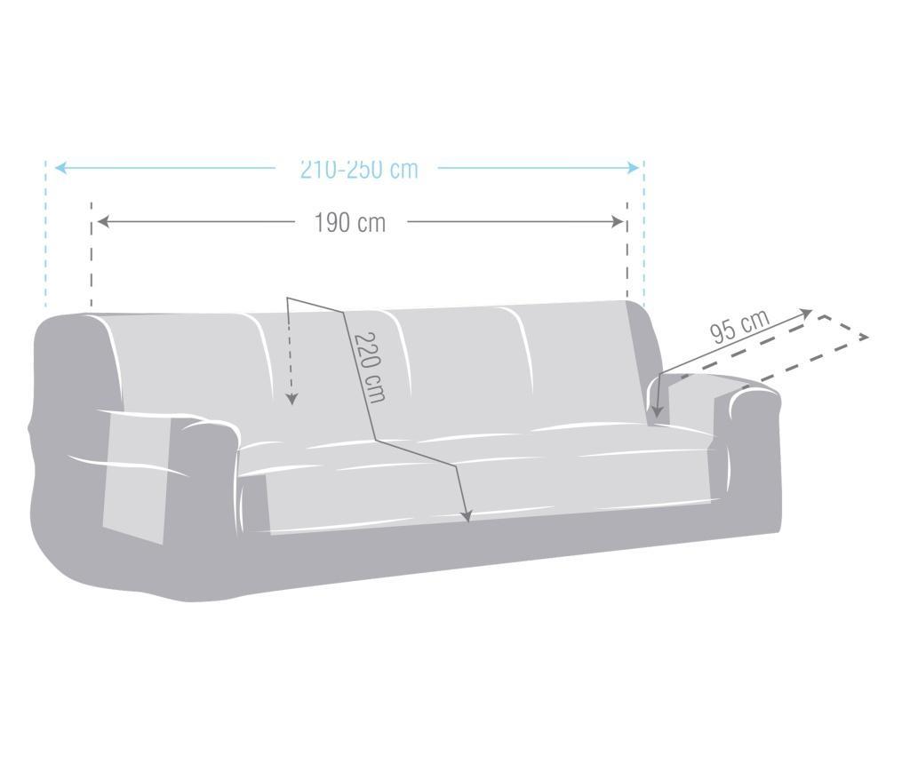 Navlaka za četvorosjed Chenille Salva Grey 210-250 cm