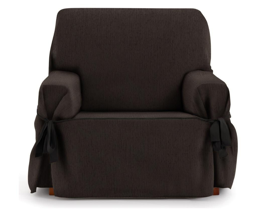 Podesiva navlaka za fotelju Chenille Ties Brown 80x45x50 cm