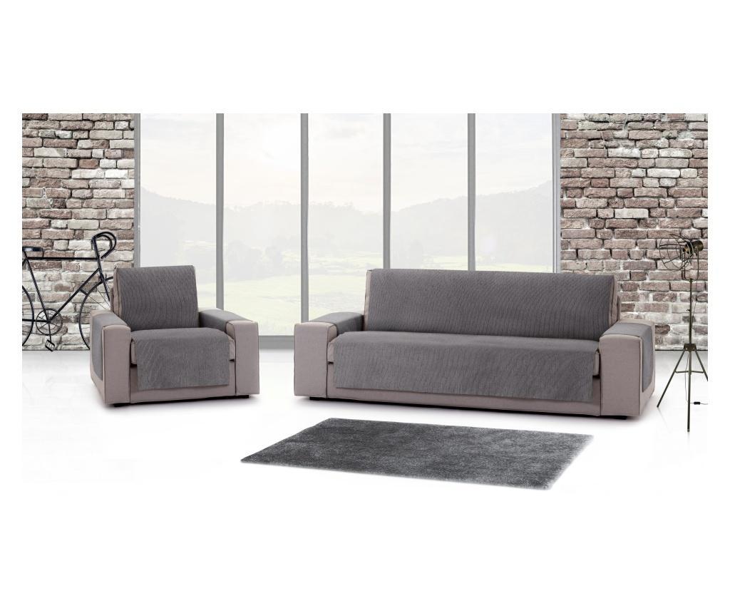 Pokrowiec na fotel Chenille Salva Grey 55x95x220 cm
