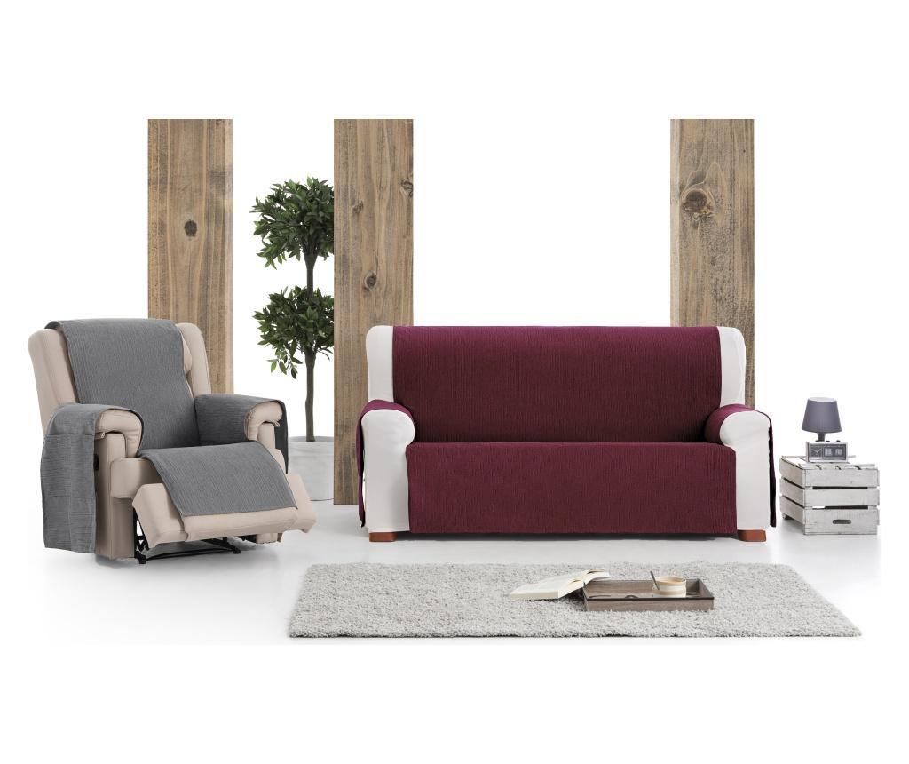 Husa pentru canapea cu 3 locuri Chenille Salva Bordo 170-210 cm