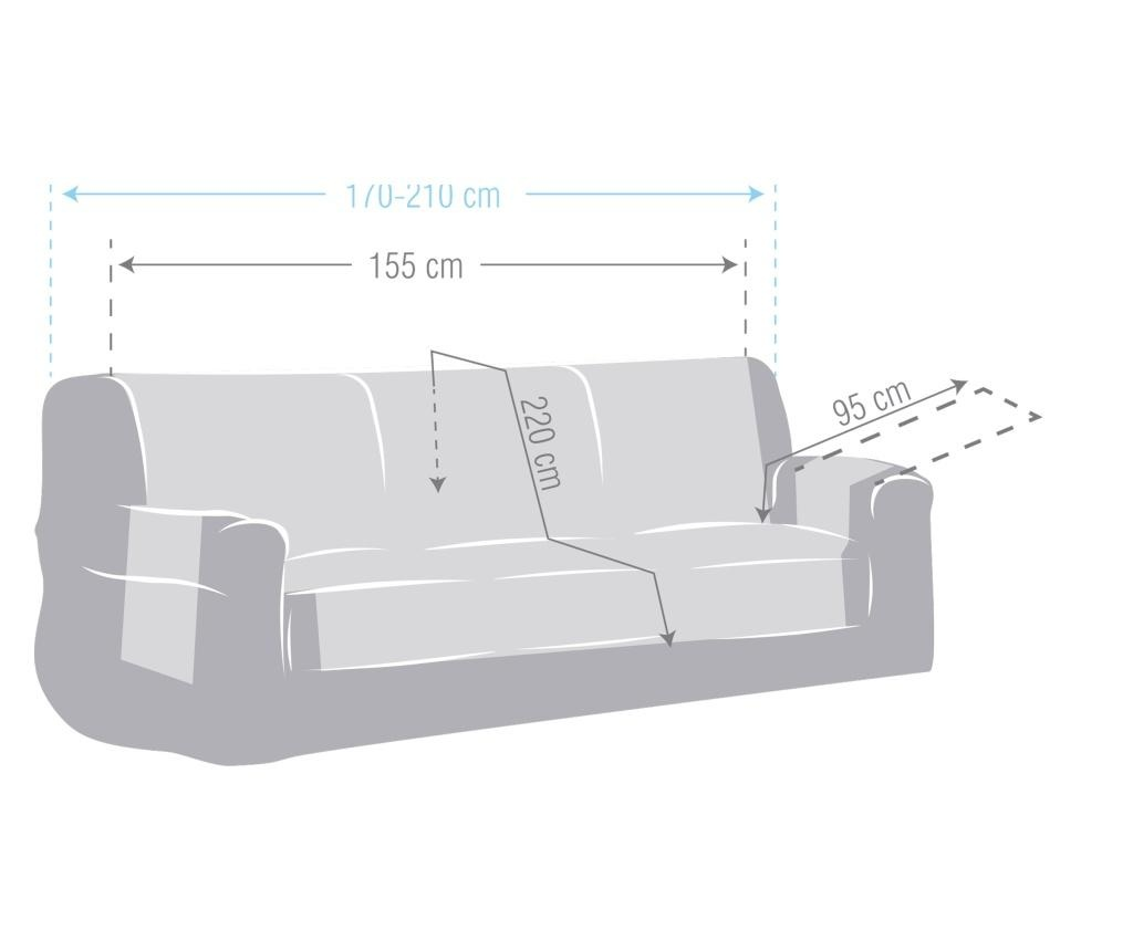 Chenille Salva Bordo Háromszemélyes kanapé huzat 170-210 cm