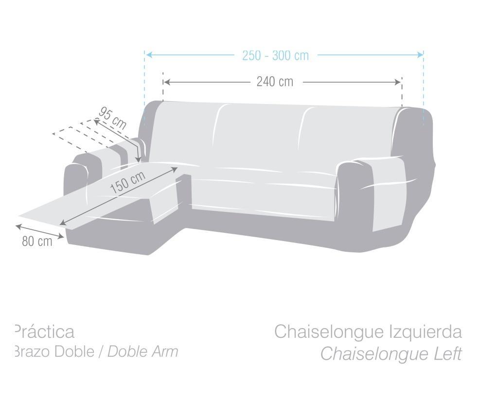 Navlaka za lijevu  ležaljku za dnevni boravak Chenille Taupe 240x95x150 cm