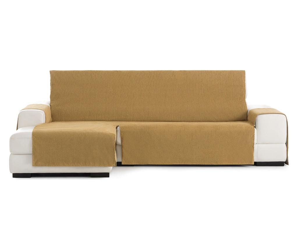 Navlaka za lijevu  ležaljku za dnevni boravak Chenille Mustard 240x95x150 cm