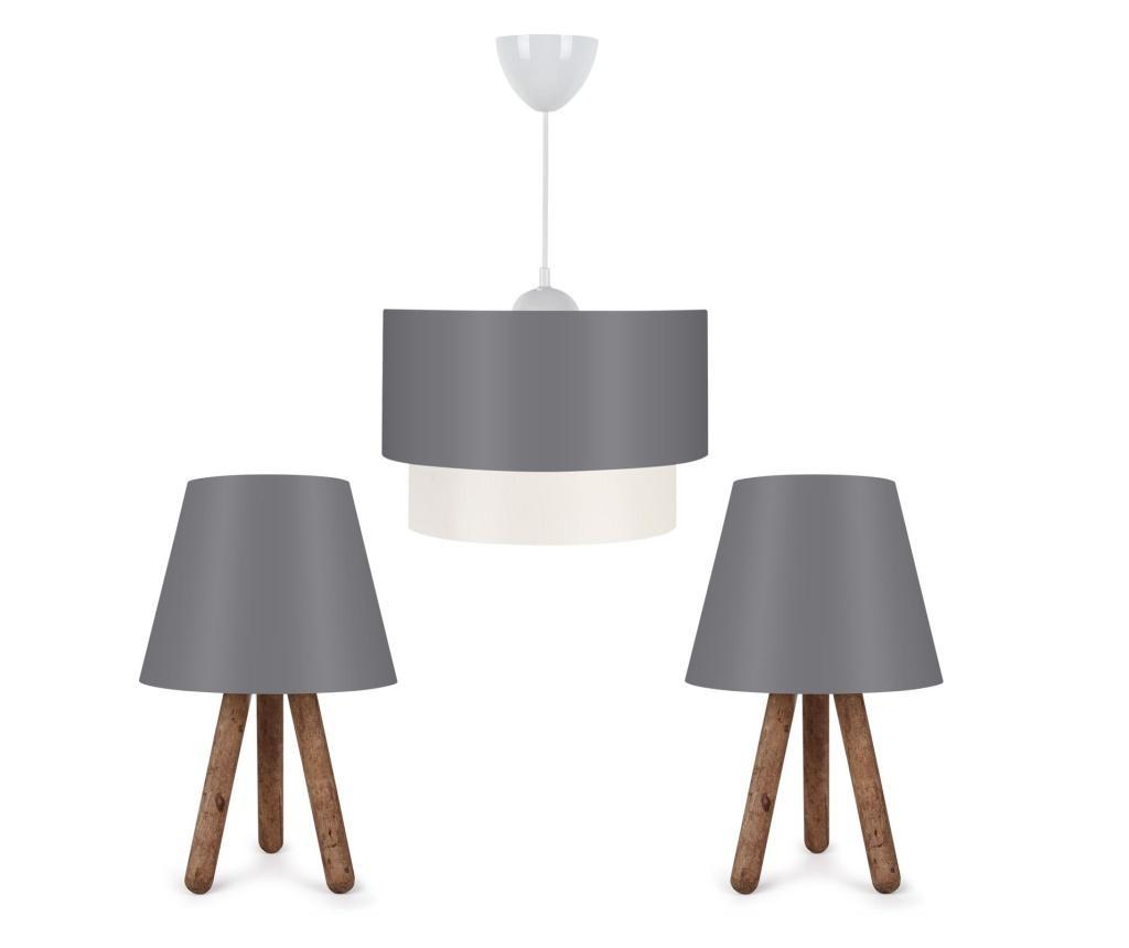 Kомплект висяща лампа и 2 настолни лампи