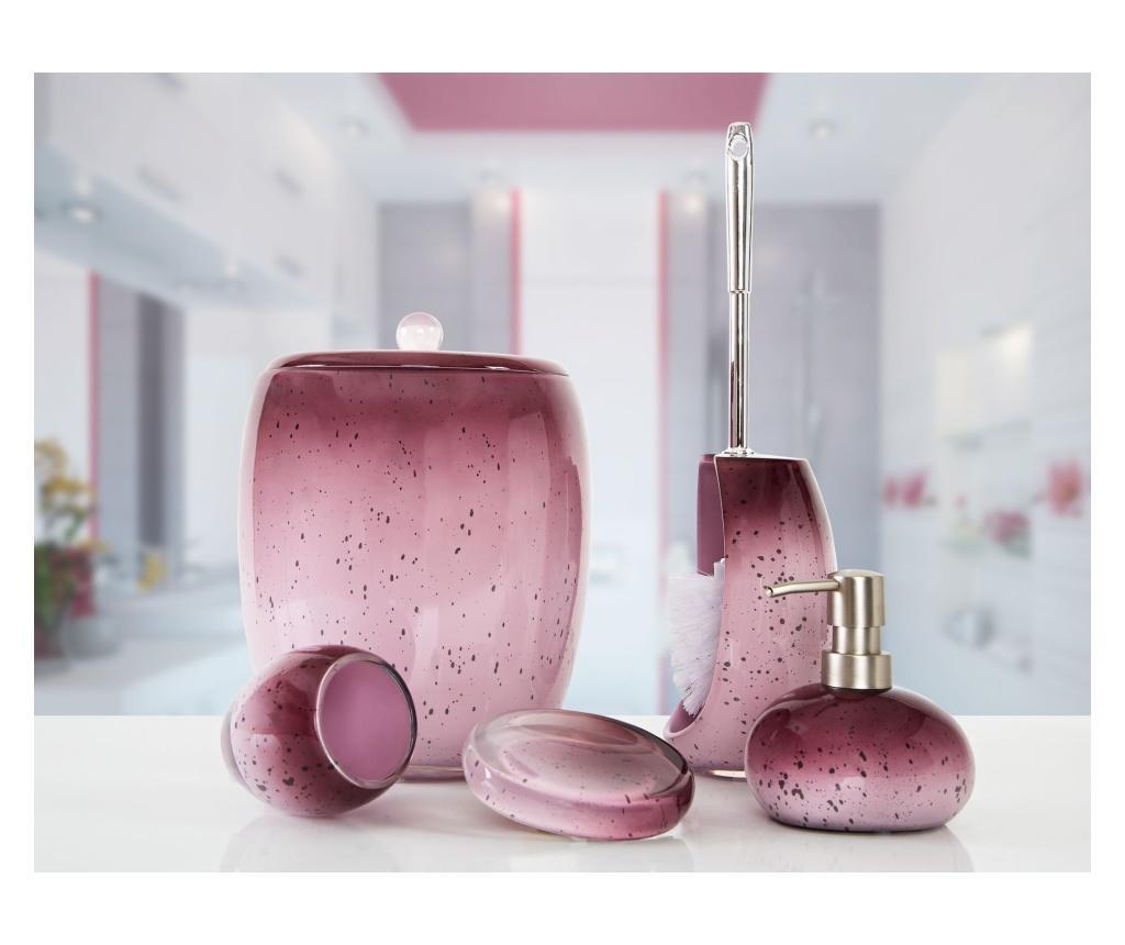 Zestaw 5 akcesoriów łazienkowych Stria Purple