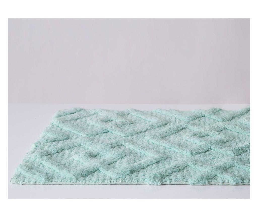 Covoras de baie Vafle Textury Aqua 50x150 cm