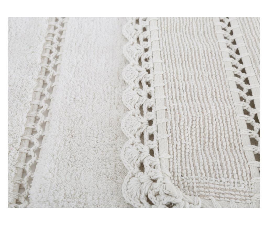 Dywanik łazienkowy Lorinda Ecru 70x110 cm