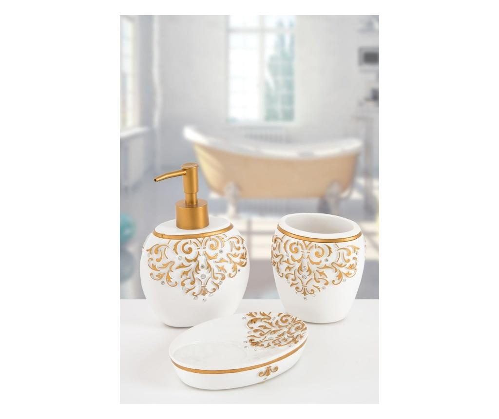Zestaw 3 akcesoriów łazienkowych Flossy White