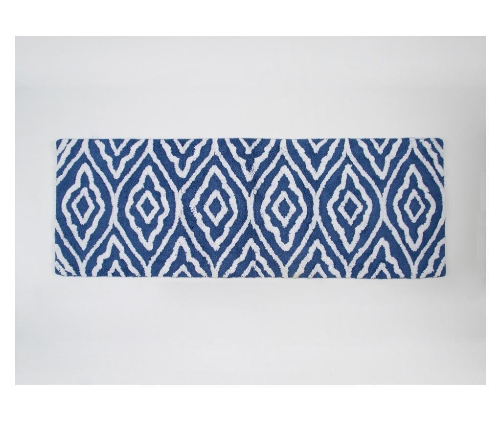 Covoras de baie Damask Royal Blue 50x150 cm