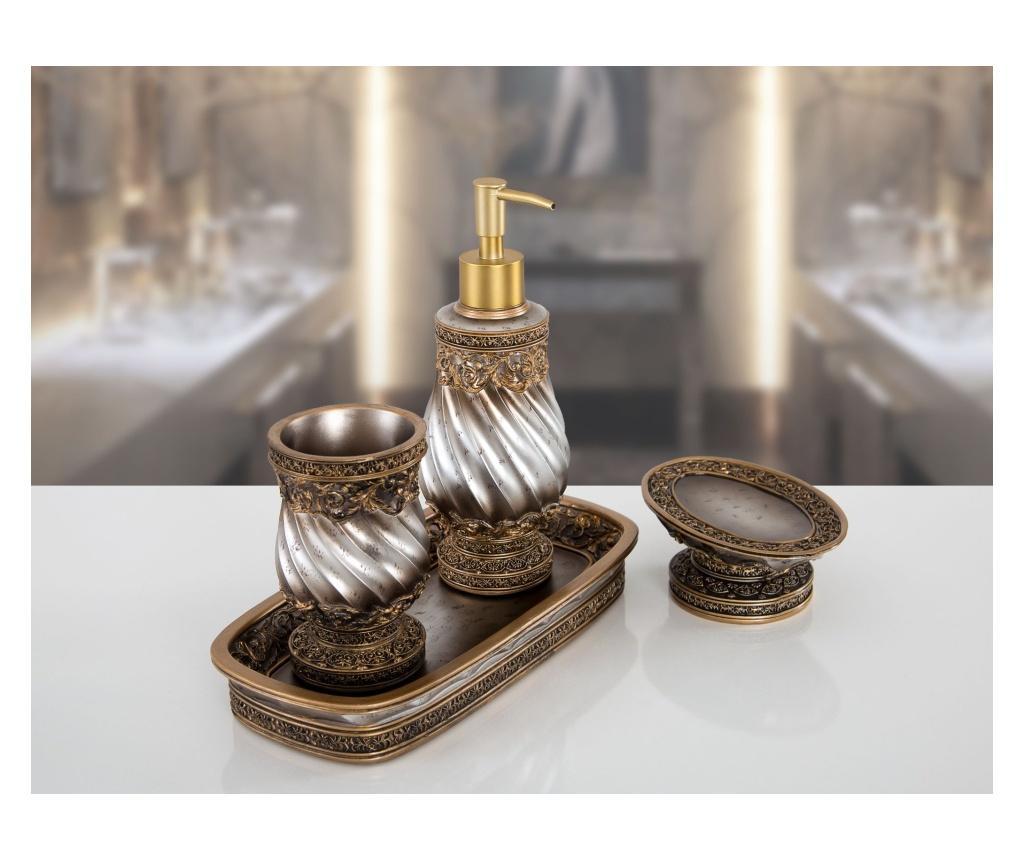 Zestaw 4 akcesoriów łazienkowych Queen Bronze
