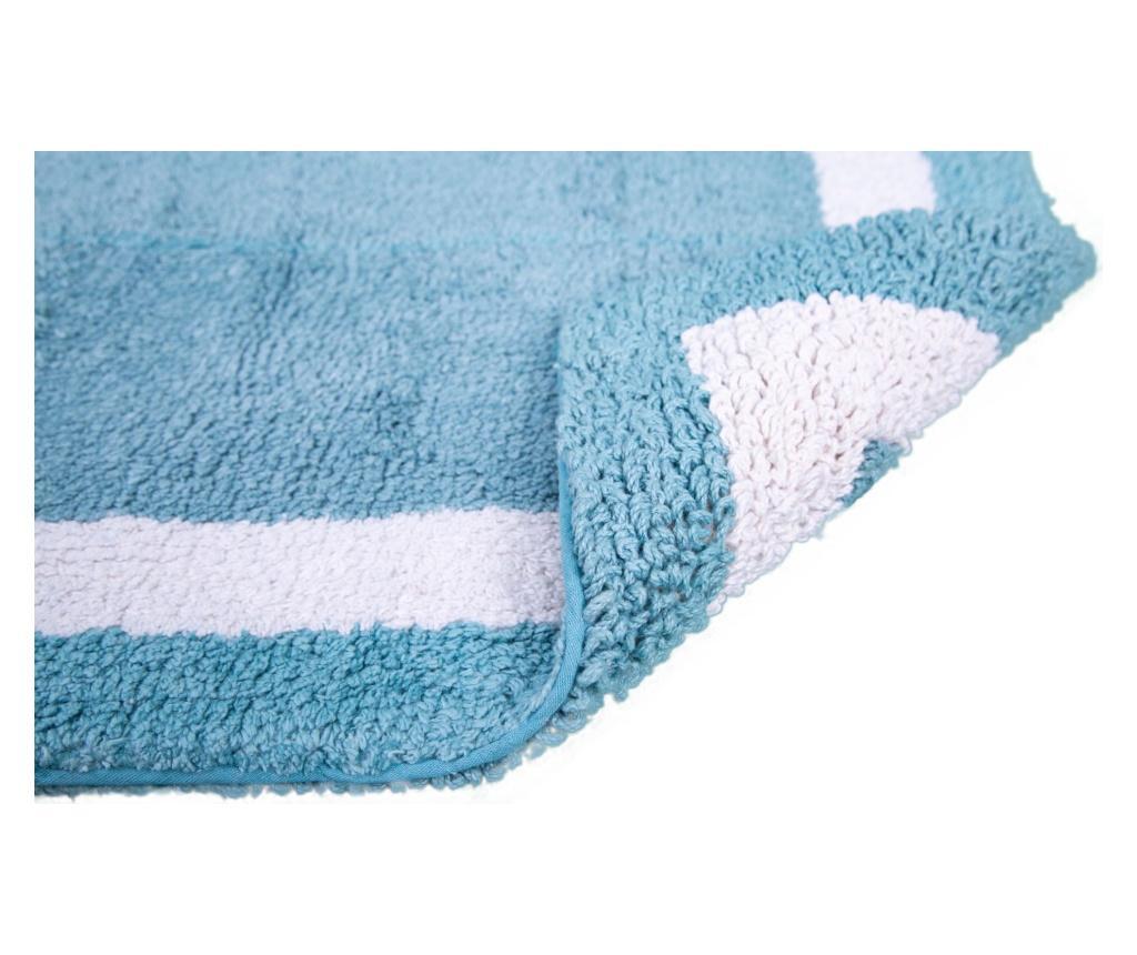 Dywanik łazienkowy Barnes Mineral Blue 53x86 cm
