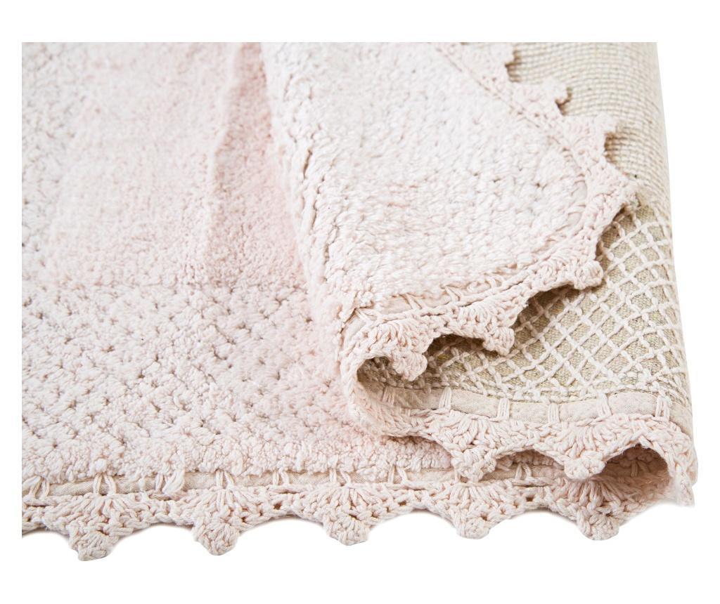 Covoras de baie Carmela Pink 70x110 cm