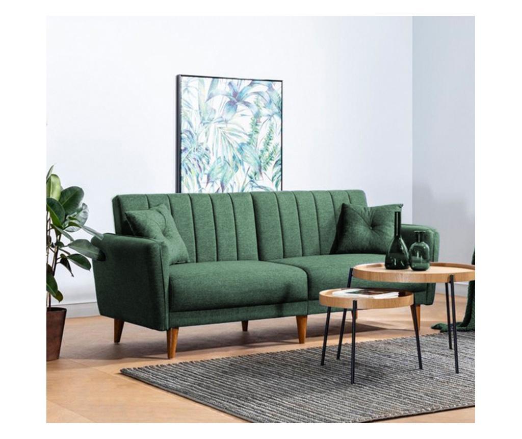 Sofa trosjed na razvlačenje Aqua Green
