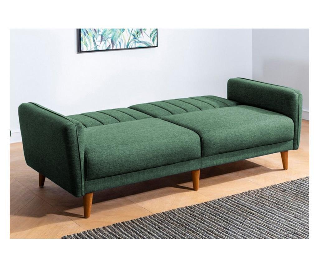 Canapea extensibila cu 3 locuri Aqua Green