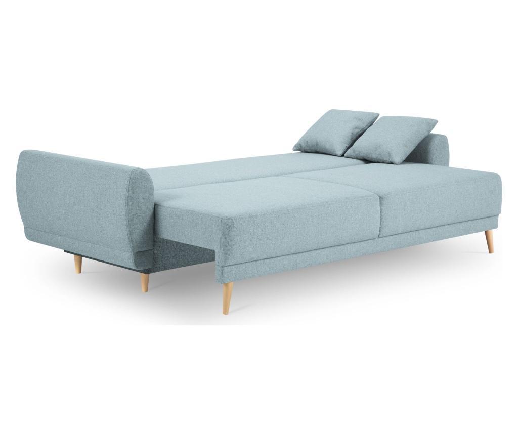 Canapea extensibila cu 3 locuri Marco Box Pastel Blue