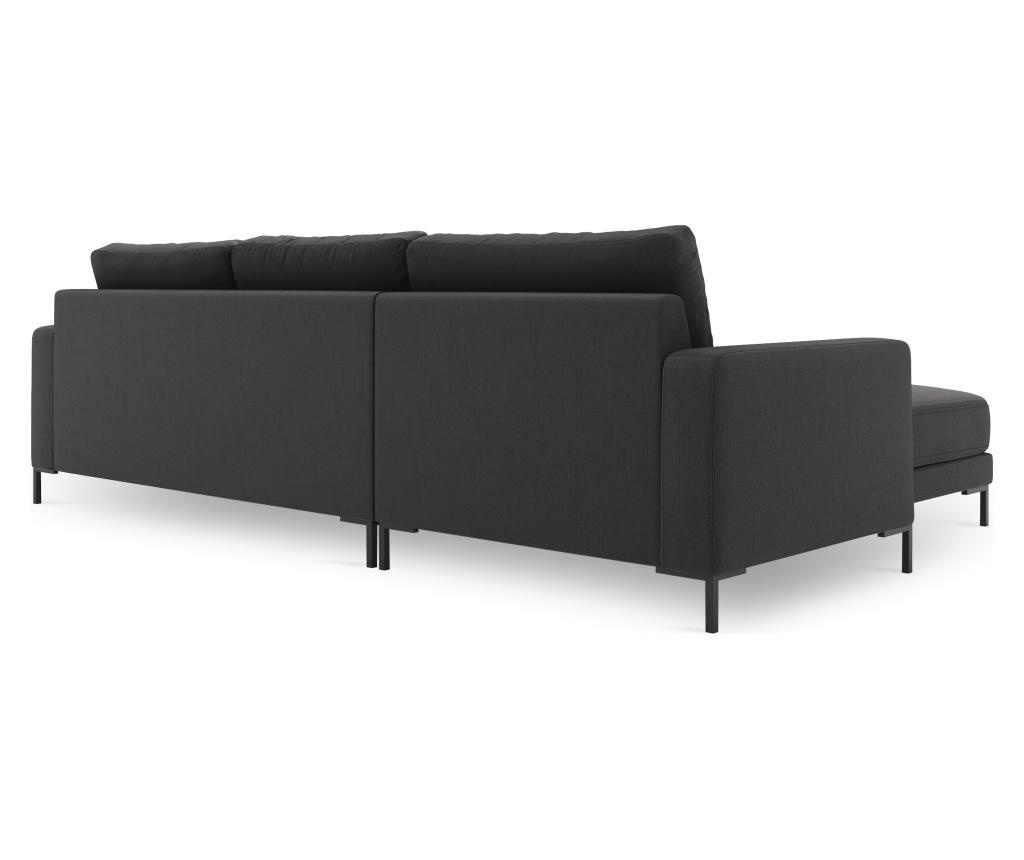 Lijeva kutna sofa Seine Dark Grey