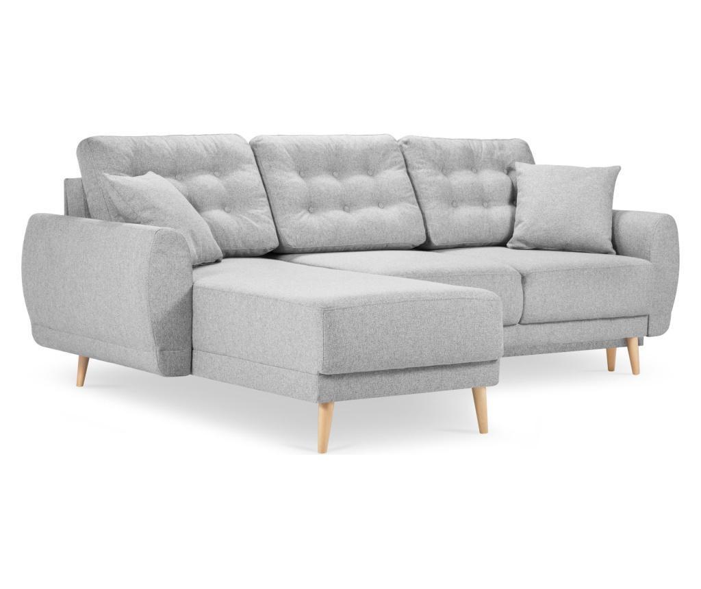 Разтегателен ляв ъглов диван Marco Box Light Grey