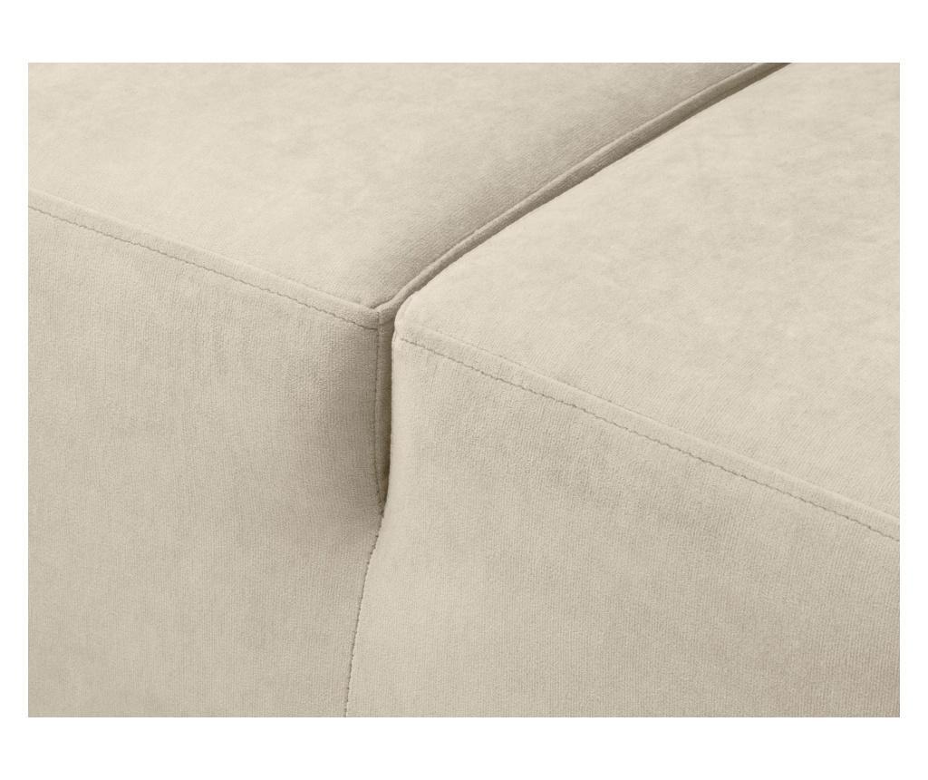 Разтегателен десен ъглов диван Dora Box Beige