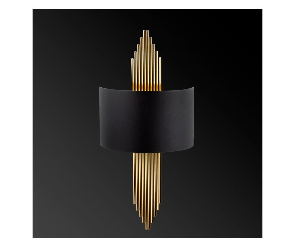 Aplica de perete Ursula One Black Gold
