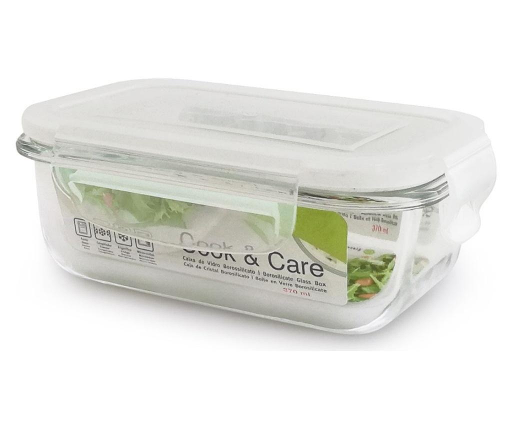 Caserola ermetica multifunctionala Cook&Care Rectangular 370 ml