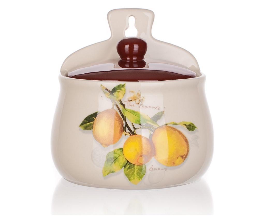 Recipient cu capac Lemon 350 ml