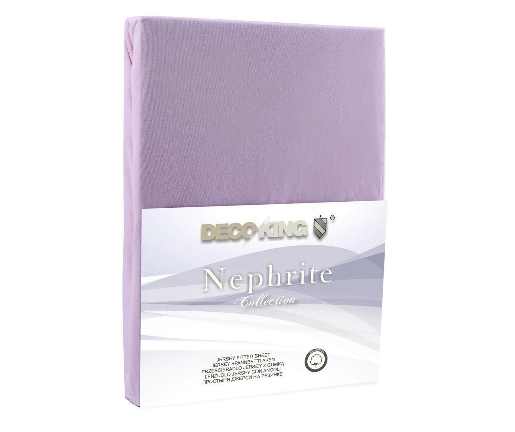 Donja elastična plahta Nephrite Lilac 140x200 cm