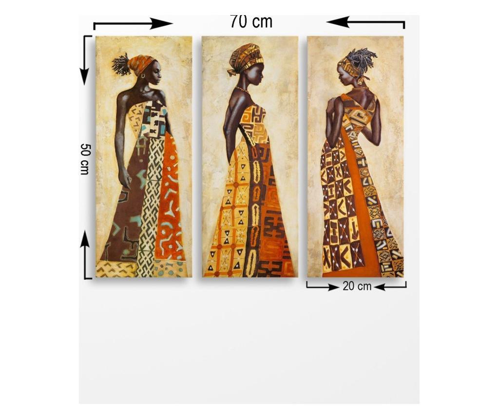Set 3 tablouri  20x50 cm