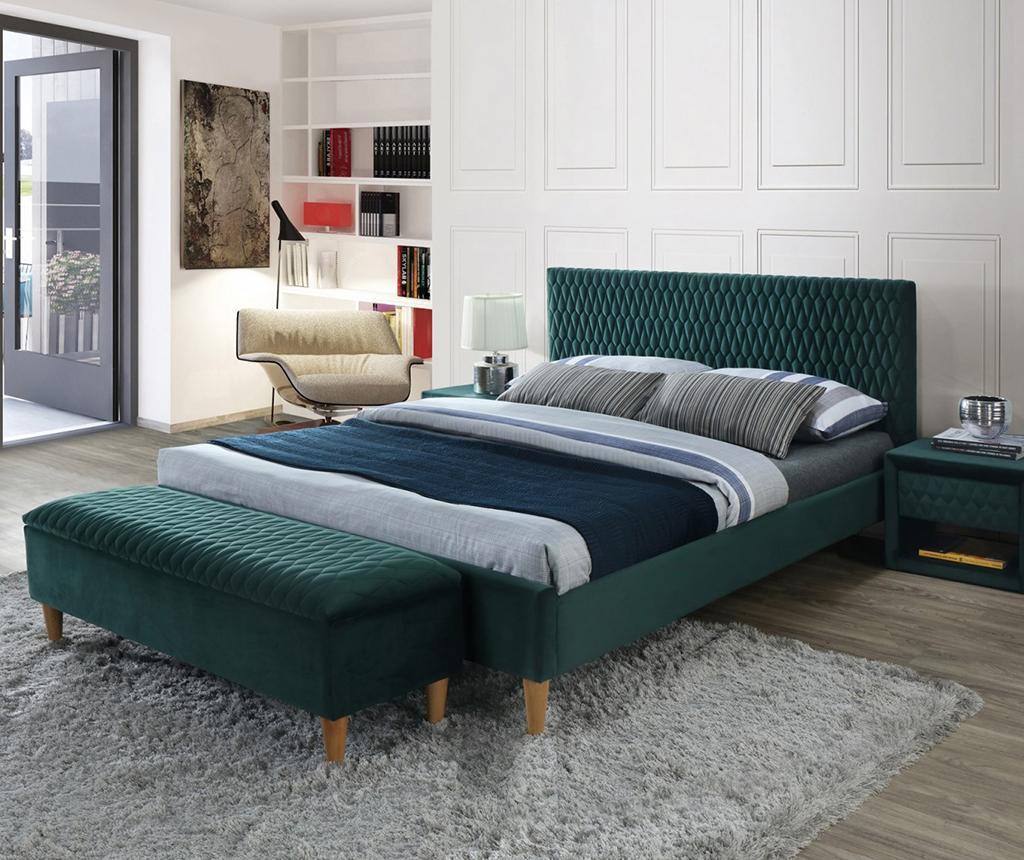 Posteľ Azzuro Velvet Green 160x200 cm
