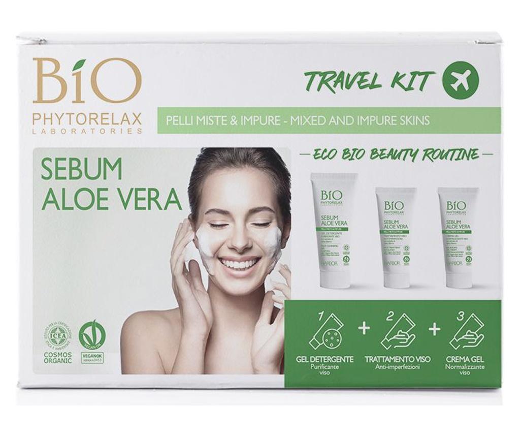 Set 3 produse pentru ingrijire faciala de calatorie Biophytorelax Aloe Vera