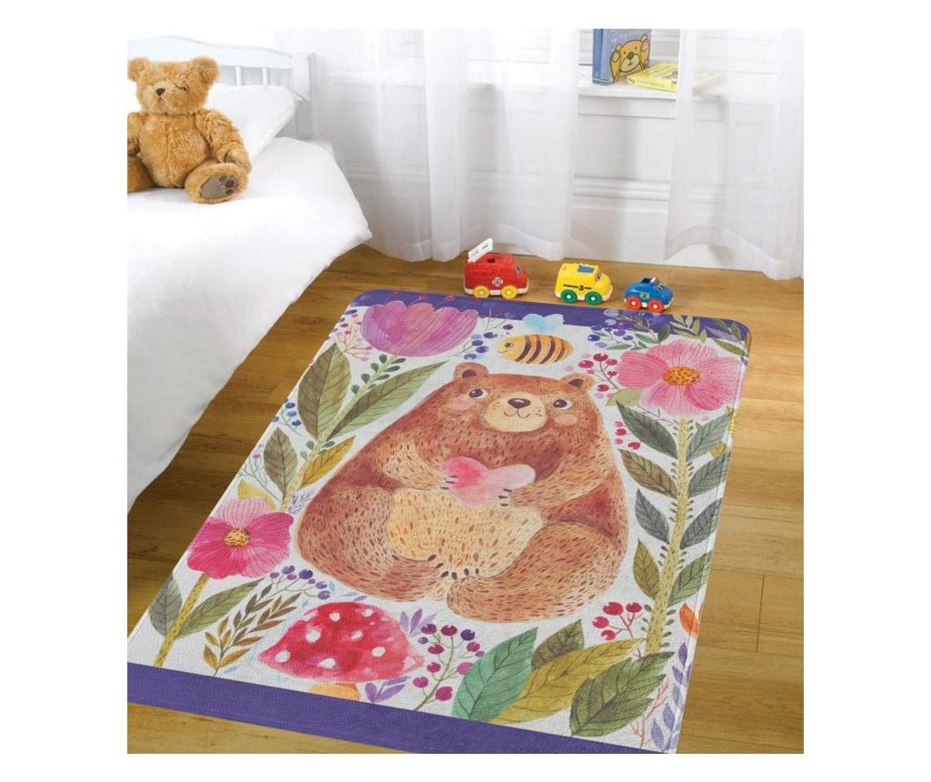 Covor pentru copii Bear Love 100x140 cm