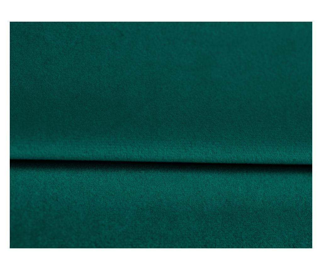 Amaryllis Velvet Bottle Green and Black Chrome Four Megfordítható és kihúzható sarokkanapé