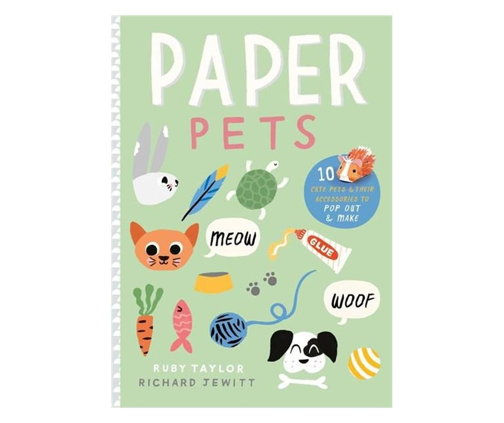 Carte Paper Pets: 10 Cute Pets & Their Accessories to Pop Out & Make