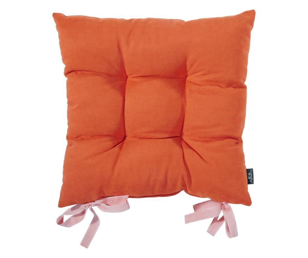 Perna de sezut Bronx Orange 37x37 cm