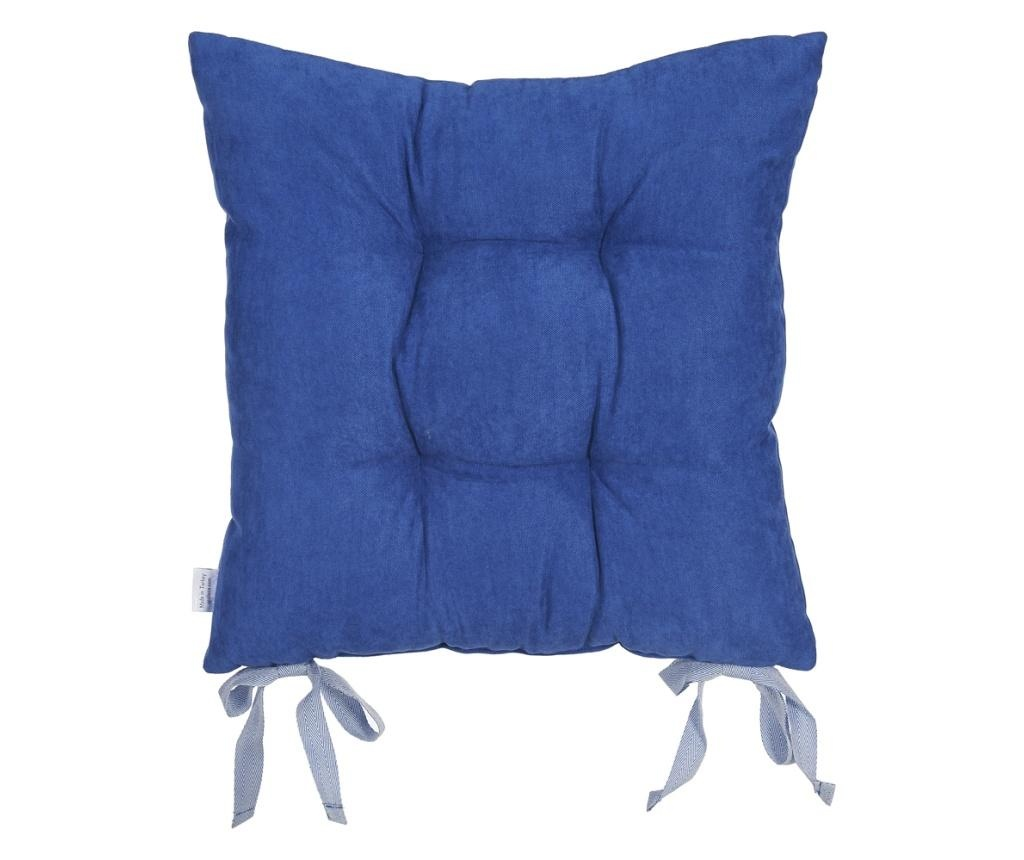 Perna de sezut Bronx Dark Blue 37x37 cm