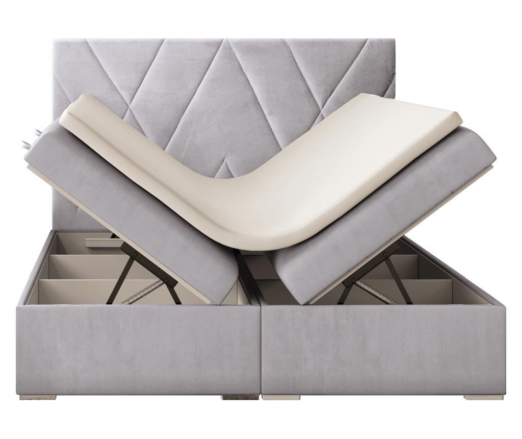 Opulance Light Grey Ágy, matrac és ágytámla 180x200 cm