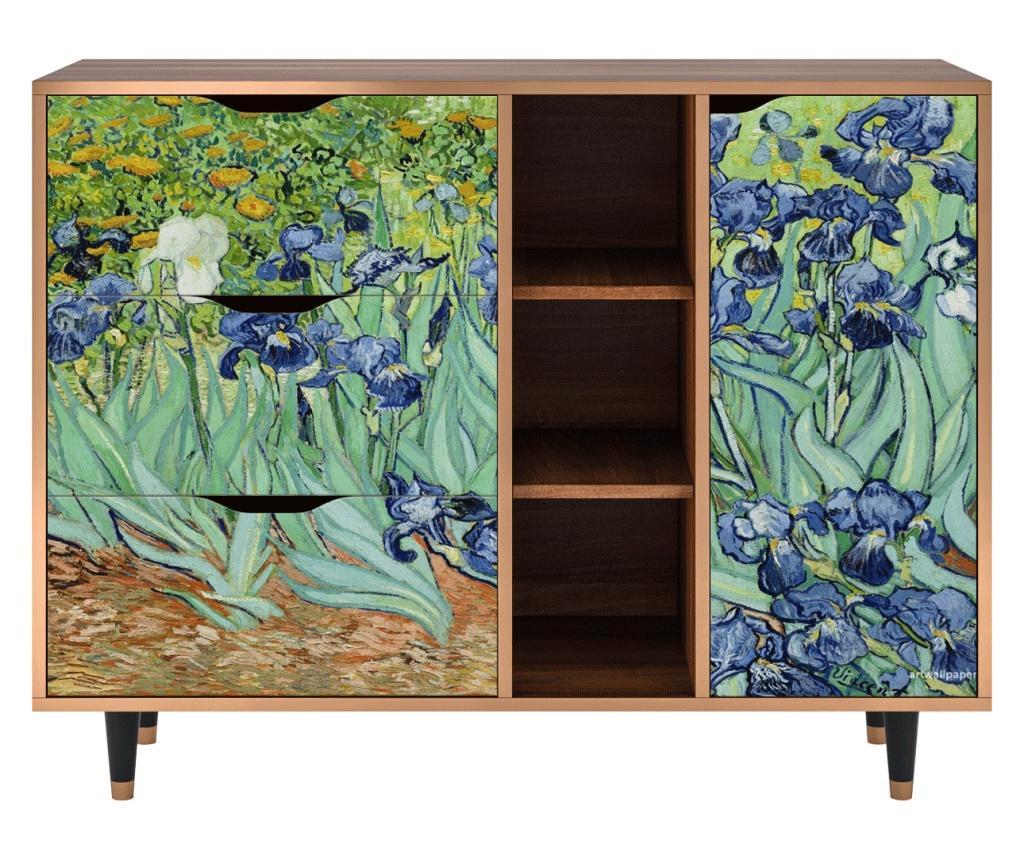 Irises by Vincent van Gogh Szekrényke