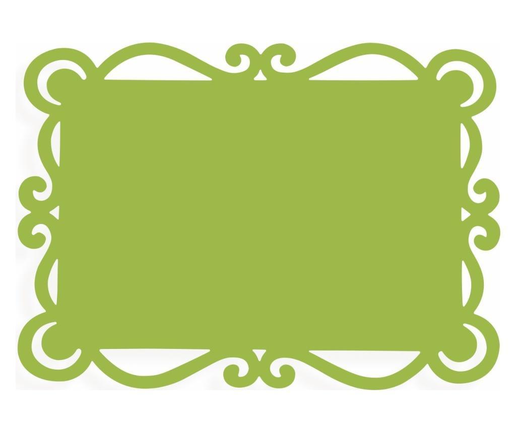 Set 6 suporturi pentru farfurii Dorian Green 32x44 cm